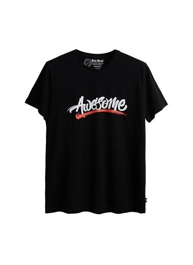 Bad Bear Bad Bear Erkek Baskılı T Shirt 21.01.07.004 Siyah